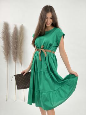 Šaty jednobarevné pod kolena 900