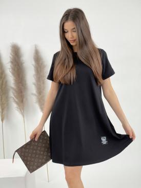 Šaty jednofarebné nad kolená 22107
