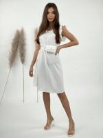 Šaty nad kolená s opaskom 3105