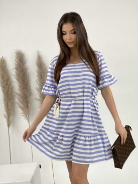 Šaty proužkované s páskem 9871