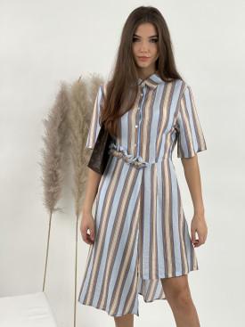Šaty proužkované vzory C02-201