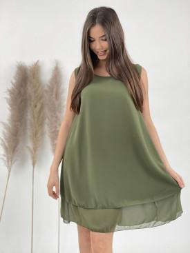 Šaty po kolena jednobarevné