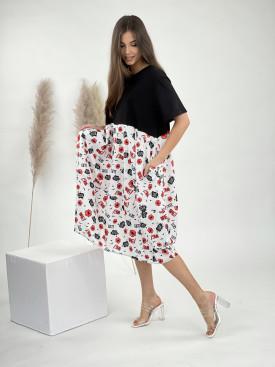 Šaty pod kolená pusinky 50753