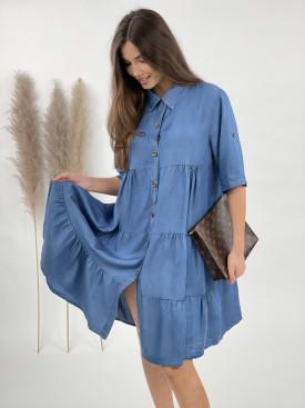 Šaty riflové na knoflíky 3106