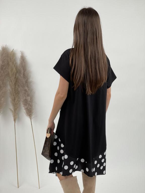 Šaty teplákové guľky krátky rukáv