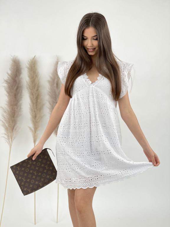 Šaty véčkový výstrih madeira 2060