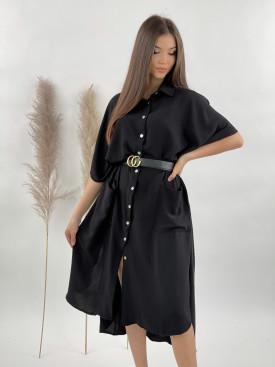 Šaty dlouhé košilové 2 kapsy 53076