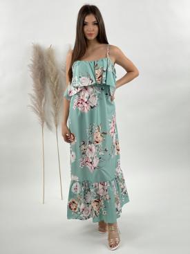 Šaty dlhé kvetované 9784