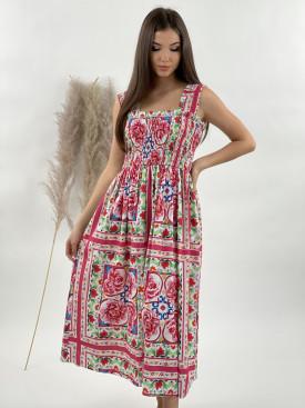 Šaty dlouhé lidový vzor 6538