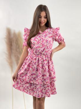 Šaty kvetované s gombíčkami 1444