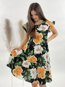 Šaty květované volánek 30669