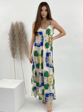 Šaty na ramienka mandala s kvetmi 2886