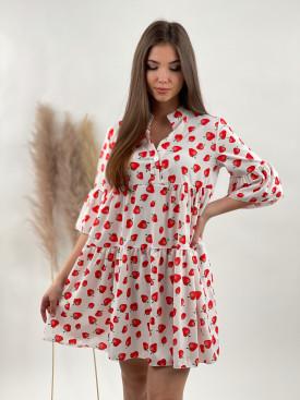 Šaty nad kolená jahody 53232