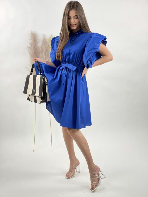 Šaty nad kolená volánový rukáv 9918