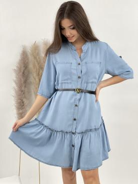 Šaty rifľové volán 3096