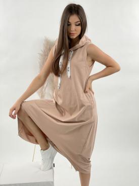Šaty teplákové bez rukávů FOR YOU