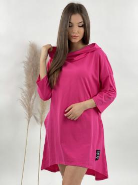 Šaty teplákové s kapucí 15933