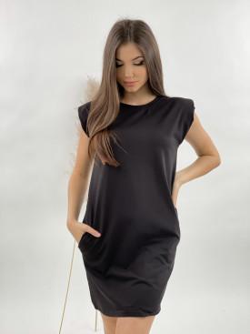 Šaty teplákové s vypchatými ramenami 22103