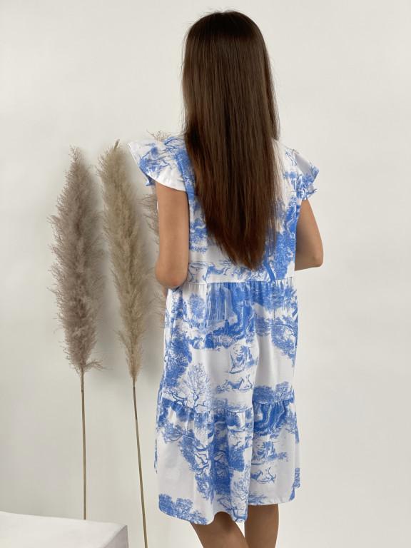 Šaty teplákové safari 3768