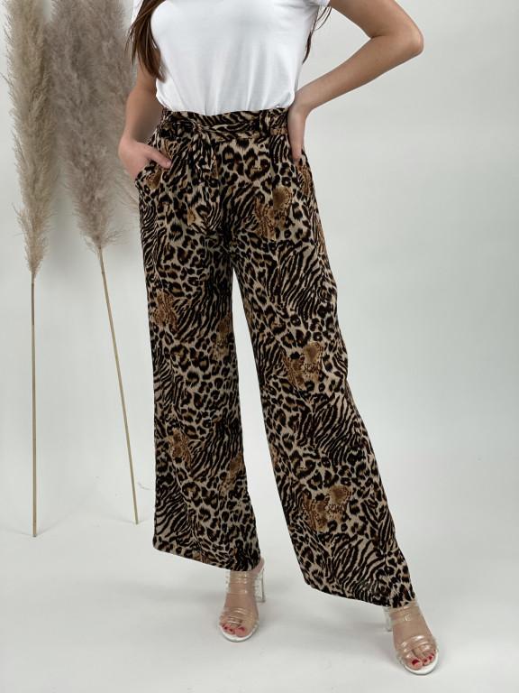 Nohavice letné zvierací vzor 001