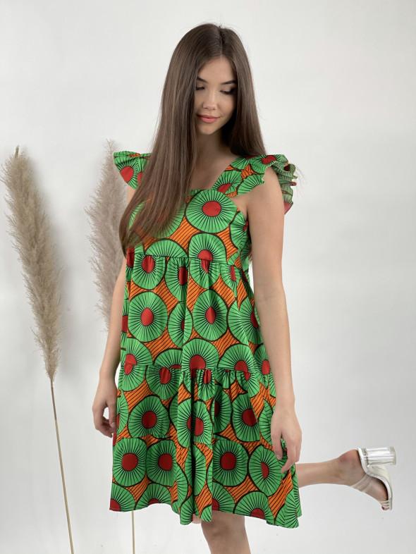 Šaty bavlnené farebné kolieska 12125