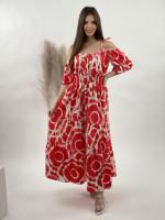 Šaty dlhé maľované 6614