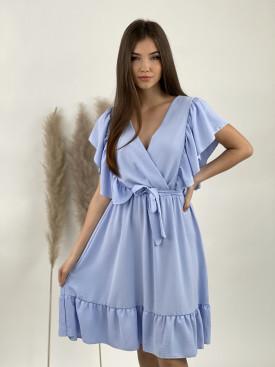 Šaty jednofarebné volán 21199