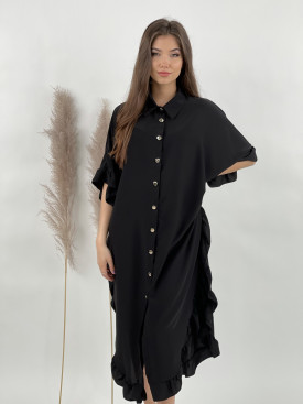 Šaty košeľové volánový lem 5602
