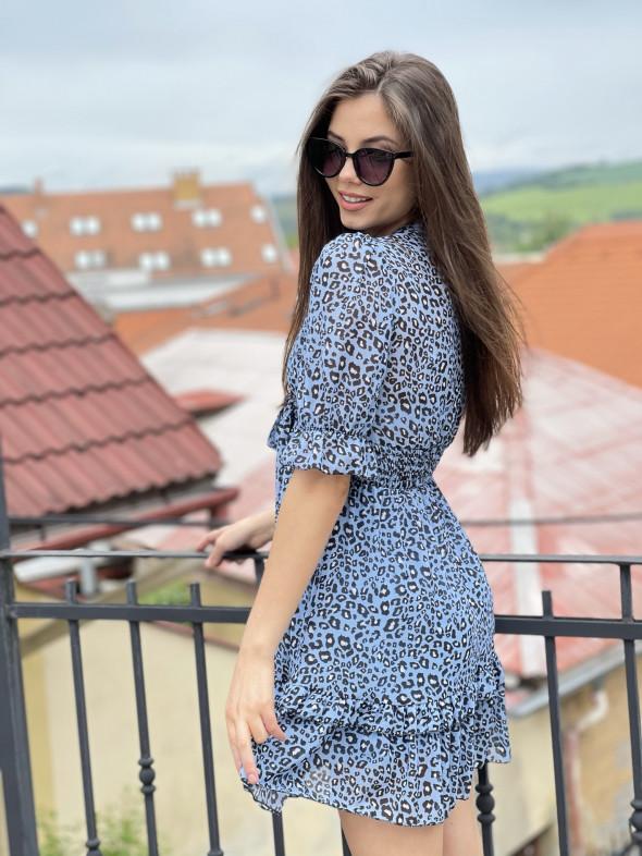 Šaty nad kolená leopardí vzor
