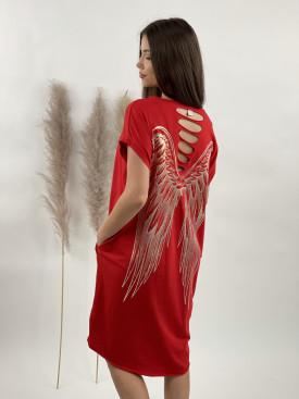 Šaty teplákové krídla na chrbte 60804