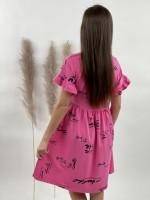 Šaty teplákové po kolená popísané 22117