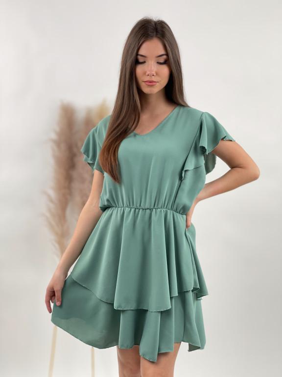 Šaty volánkové jednofarebné 5697