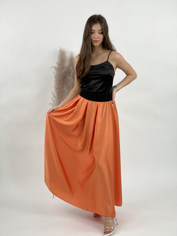 Sukňa jednofarebná čierny patent 2507