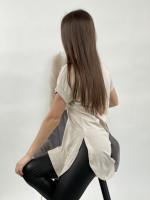 Tričko predĺžené krátky rukáv 52053