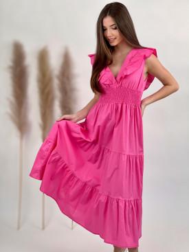 Šaty bavlnené véčkový výstrih A58