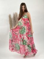 Šaty dlhé strapček batikované 2104