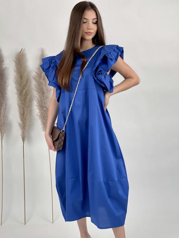 Šaty dlhé volánové rukávy 53301