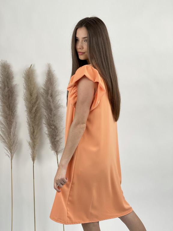 Šaty jednofarebné s volánkovým rukávom 9885