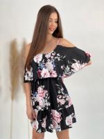 Šaty kvetované na ramienka 9783