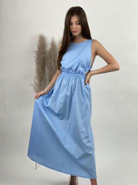 Šaty midi odhalený chrbát 10035