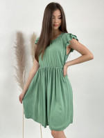 Šaty nad kolená jednofarebné 9213