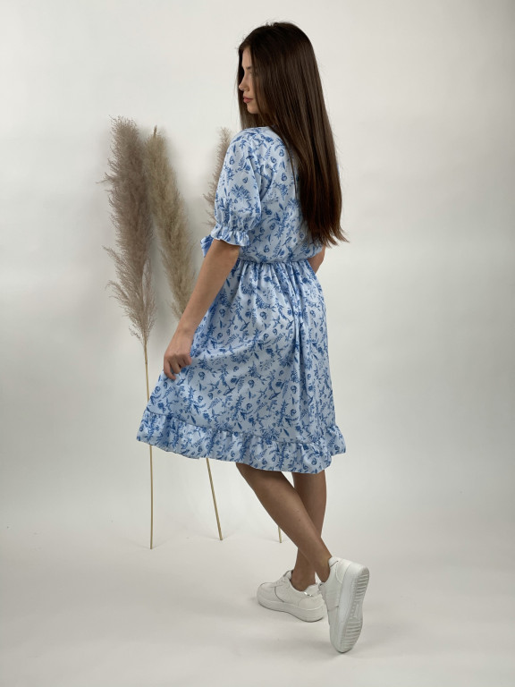 Šaty po kolená vtáci a motýle
