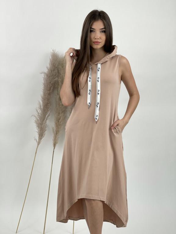 Šaty teplákové bez rukávov FOR YOU 8037