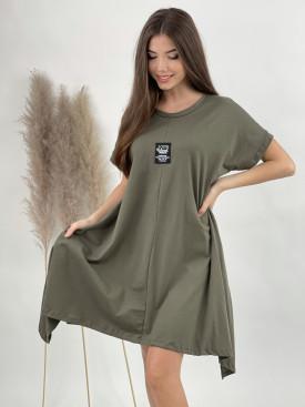 Šaty teplákové nášivka 10072