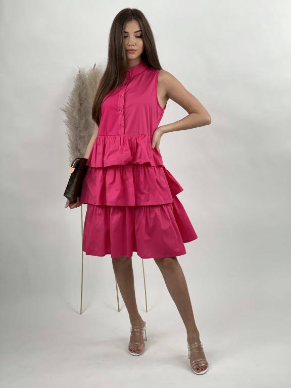 Šaty bavlnené volány 31376