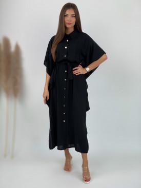 Šaty dlhé košeľové s volánmi 5700