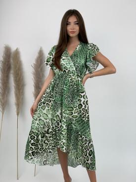 Šaty dlhé leopardie vzory 1233