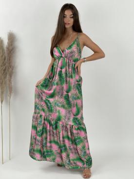 Šaty dlhé na ramienka hawaii 20296