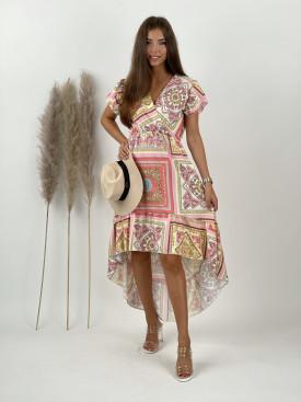 Šaty dlhé ornamenty 24093