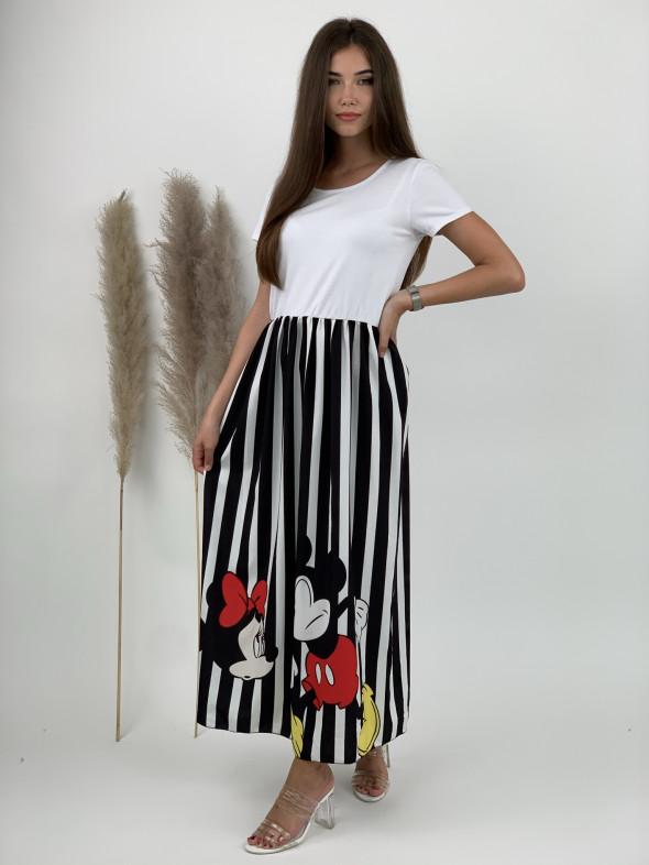 Šaty dlhé pásikavé nahnevaný myšiak 2198